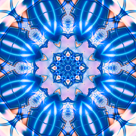 intertwined: Seamless Mandala. Colorful mandala. Intertwined figure of different colors. Geometric and floral designs. Mystical and iconic image.