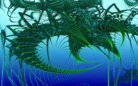 salmonella: An incredible underwater animal.Thin tentacles. Floating unseen animal. An alien organism. Deep sea skeleton. Hanging strands of tentacles. Rib bones.