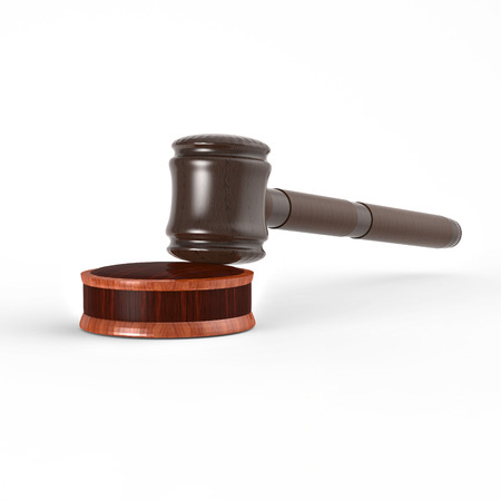 Hammer Of Justice. Image of wooden gavel and stand. Polished wooden wares of precious wood. The judicial system of the government.