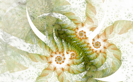 The fantasy worlds of fractals. Fractal image of magical shapes and colors. Repetitive lines and swirls. Illustration of the possibilities of the imagination. Incredible mathematical calculations. Stock Illustration - 84751900