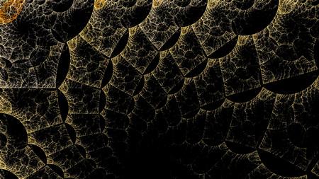 Die Fantasy-Welten der Fraktale. Fraktalbild von magischen Formen und Farben. Wiederholte Linien und Strudel. Illustration der Möglichkeiten der Phantasie Unglaubliche mathematische Berechnungen. Standard-Bild - 88569693
