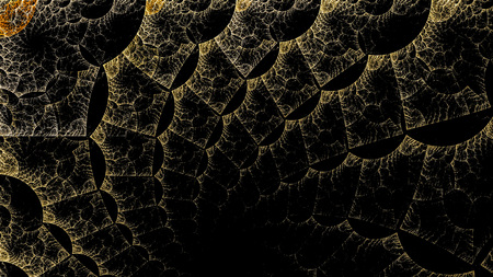 The fantasy worlds of fractals. Fractal image of magical shapes and colors. Repetitive lines and swirls. Illustration of the possibilities of the imagination. Incredible mathematical calculations.