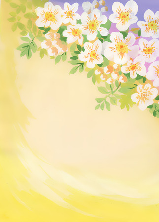 taffy: Watercolor cherry blossom with copyspace