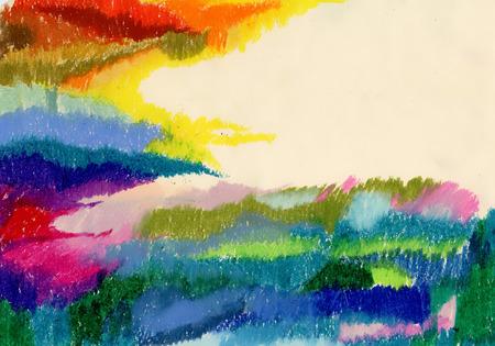 Summer forest watercolor landscape Illustration