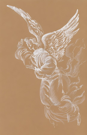 Painting Collection: Angel Stock Photo