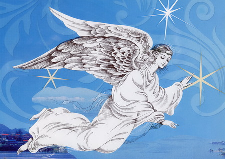 angel illustration: Beautiful angel with wings