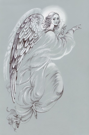 Mooie engel met vleugels