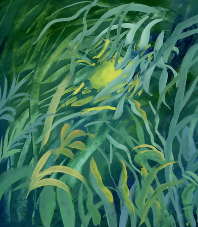 blumen abstrakt: Aquarell Floral abstrakten Hintergrund