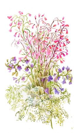 flowers background: Flores de la acuarela de fondo Vectores