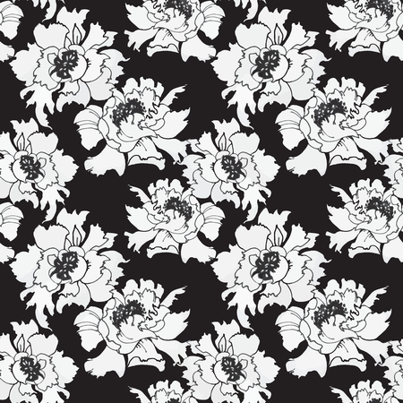 Watercolor hand drawn colorful flowers seamless pattern. Vector