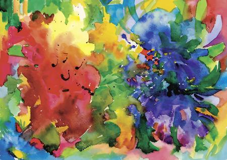 textury na pozadí: Barevné abstraktní akvarel textury pozadí.