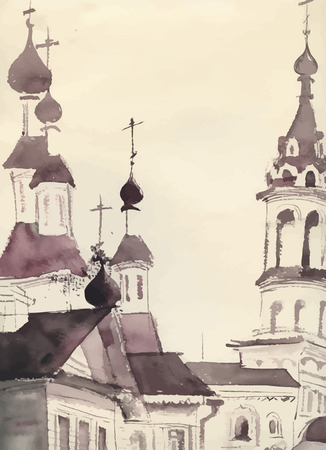 old church: Sketch of an old church.