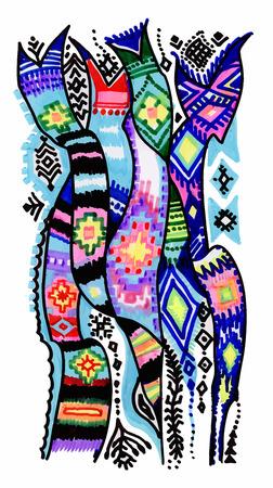 Bunte abstrakte Filzstift Streifen Textur. Vektorgrafik