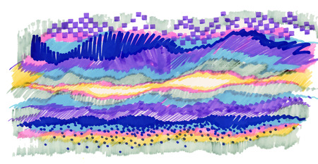 Colorful abstract felt-tip pen stripes texture.