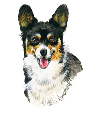 Puppy dog hand drawn illustration sketch