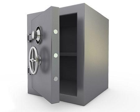 caja fuerte: Abrir cuadro de  Foto de archivo