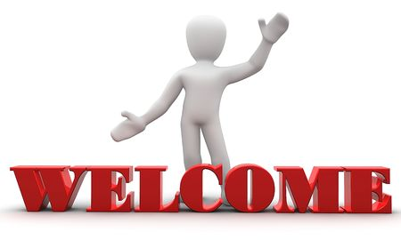 welcoming: welcome Stock Photo