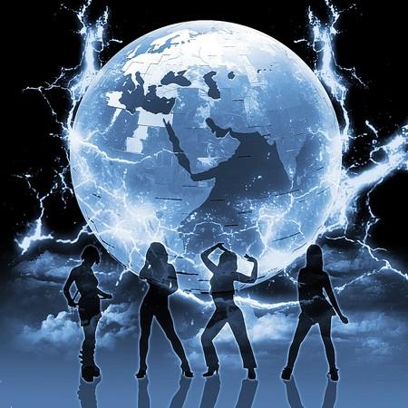 Disco night  Standard-Bild