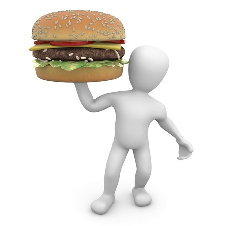 unhealthy food: 3d image, fast food Stock Photo