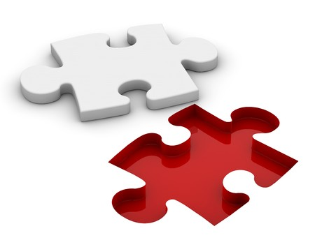 compatible: Feet white Puzzle  Stock Photo