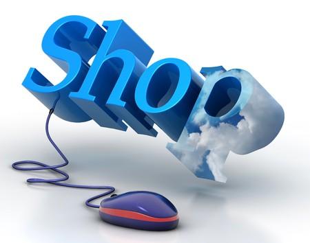 Online Shop  Lizenzfreie Bilder