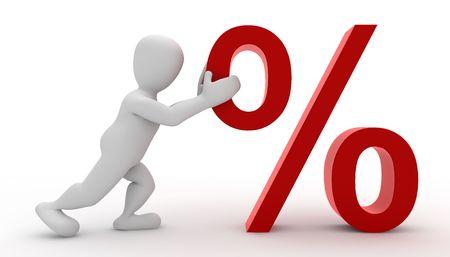 Borko mit Prozentsatz Standard-Bild