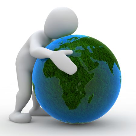 amor al planeta: Borko abrazo la tierra