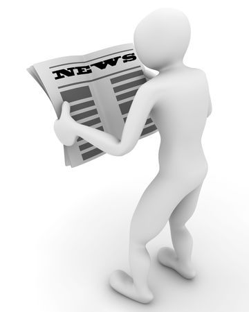 body writing: newspaper