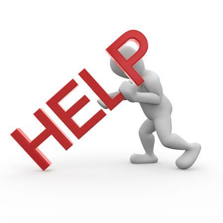 segítség: Segítség Stock fotó