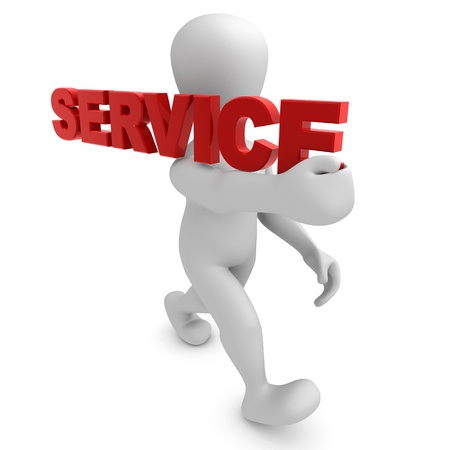 service lift: Borko shoulder SERVICE Stock Photo