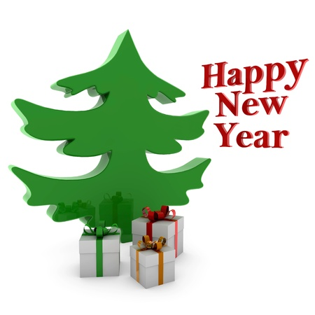 trabajo: Christmas Tree Stock Photo