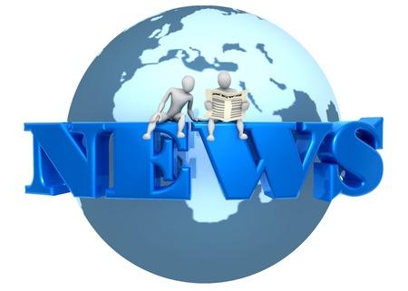 news blue photo