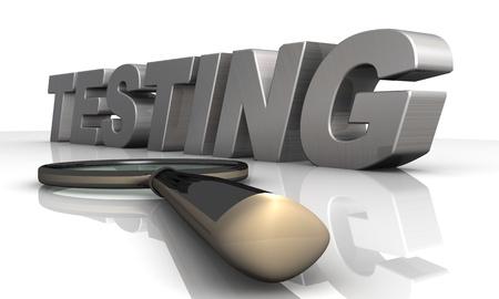 medical testing: magnifier Testing