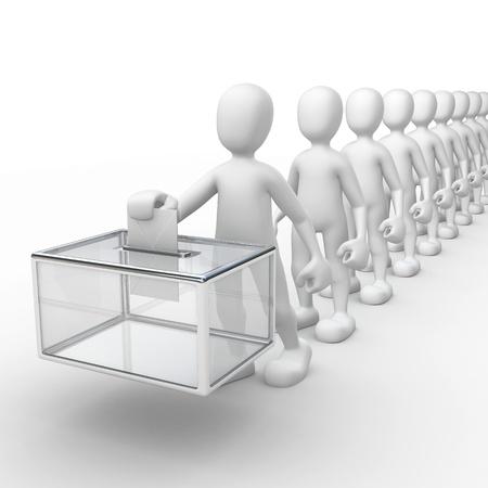 voting box: diritto di voto Archivio Fotografico