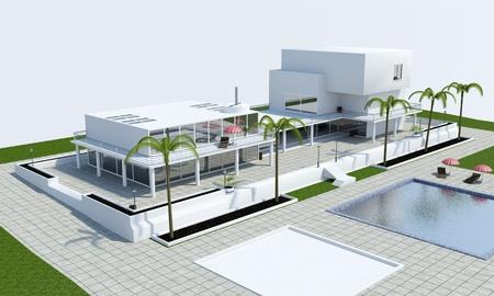 Luxus-Villa oben Lizenzfreie Bilder