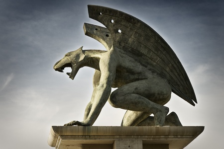 Gargoyle side Stock Photo