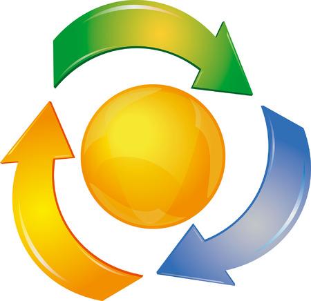 Logo with arrows Vector