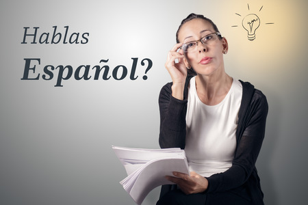 Spreek je Spaans? Stockfoto