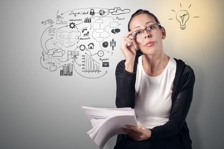 Gedanken, Planung Standard-Bild