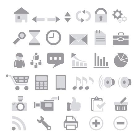 web icons: Icons for Web Illustration