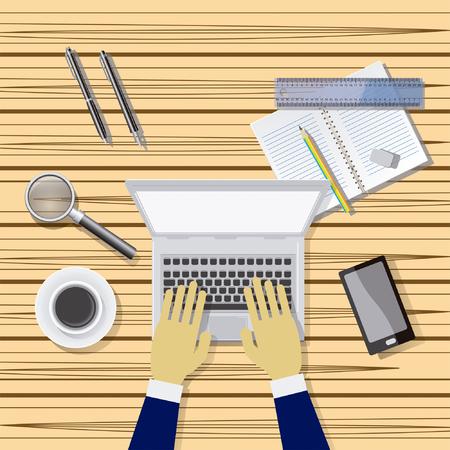 Mesa de trabajo  Arbeitstisch Illustration