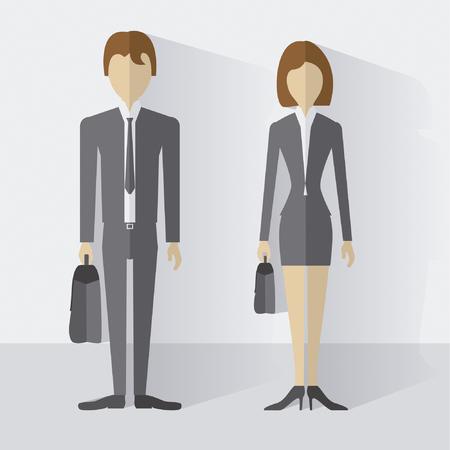 hombre: Hombre de negocios con maletin  Businessman with briefcase Illustration