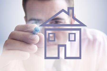 Immobilienverkauf Standard-Bild