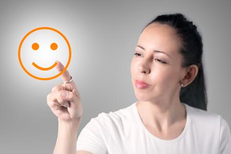 Frau Zeichnung Lächeln Standard-Bild