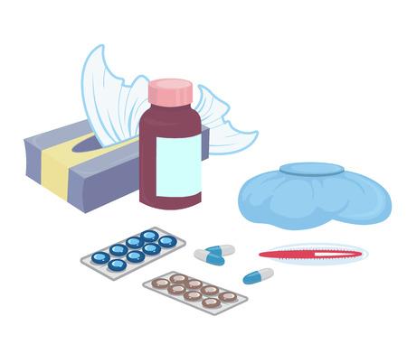 Medication drugs.Medicine pill, pharmacy drug bottle. Medicines prescription vitamin capsules painkillers isolated on white vector illustration-vector