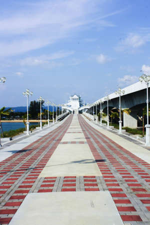 Sarasin bridge, south of Thailand photo