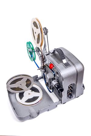 Retro old reel movie projector for cinema.