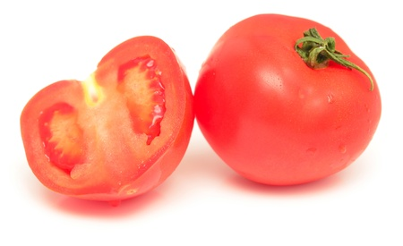 tomatoes isolated on white background photo