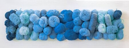 Classic Blue. Color of the Year 2020. Cold color yarn Imagens