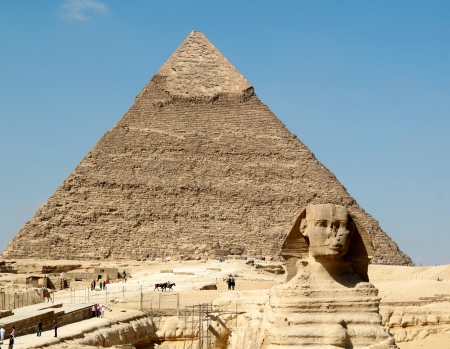 Pyramid of Khafre and the Sphinx